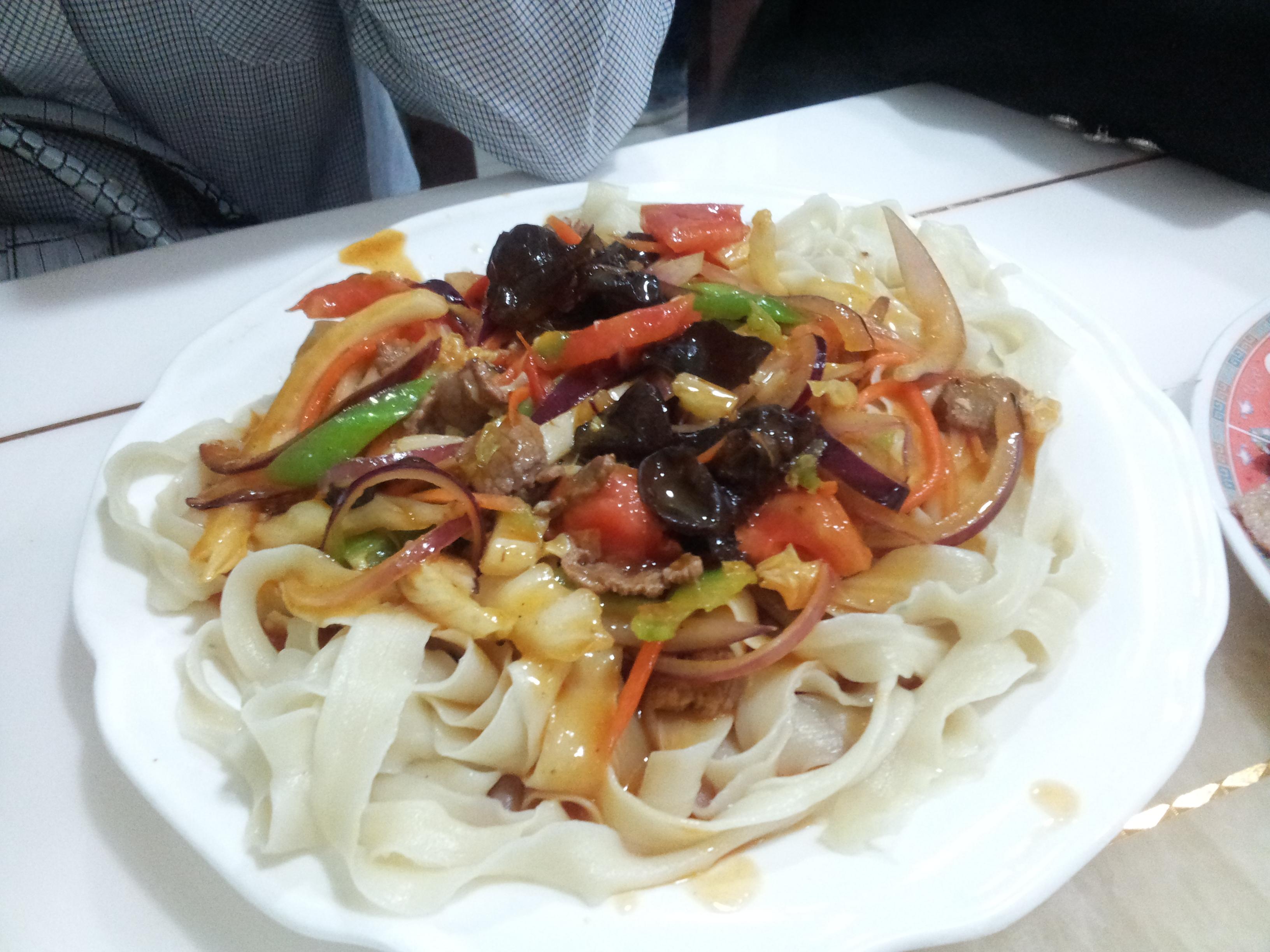 pâtes à la tomate du xinjiang