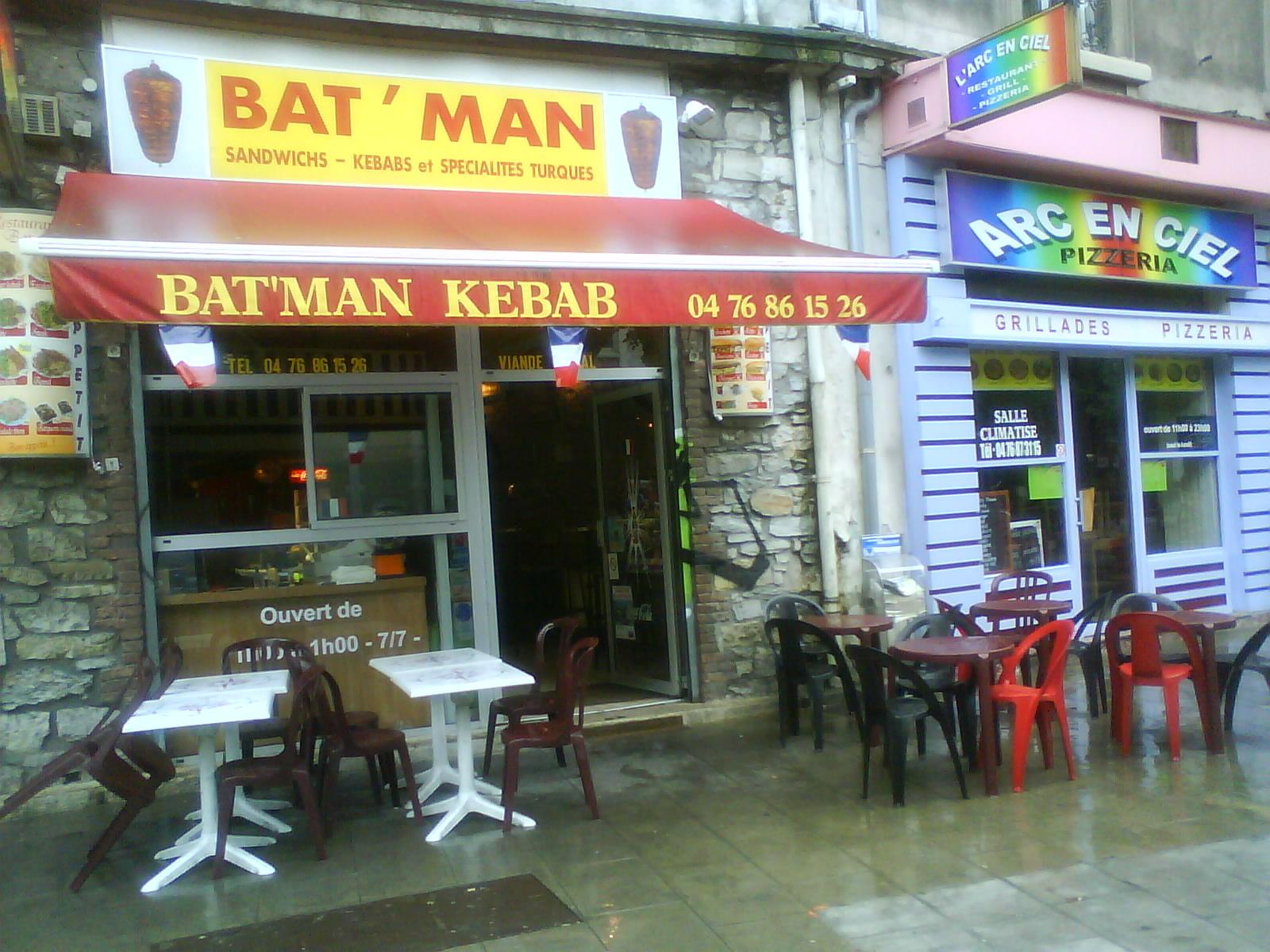 bat man kebab restaurant top. Black Bedroom Furniture Sets. Home Design Ideas