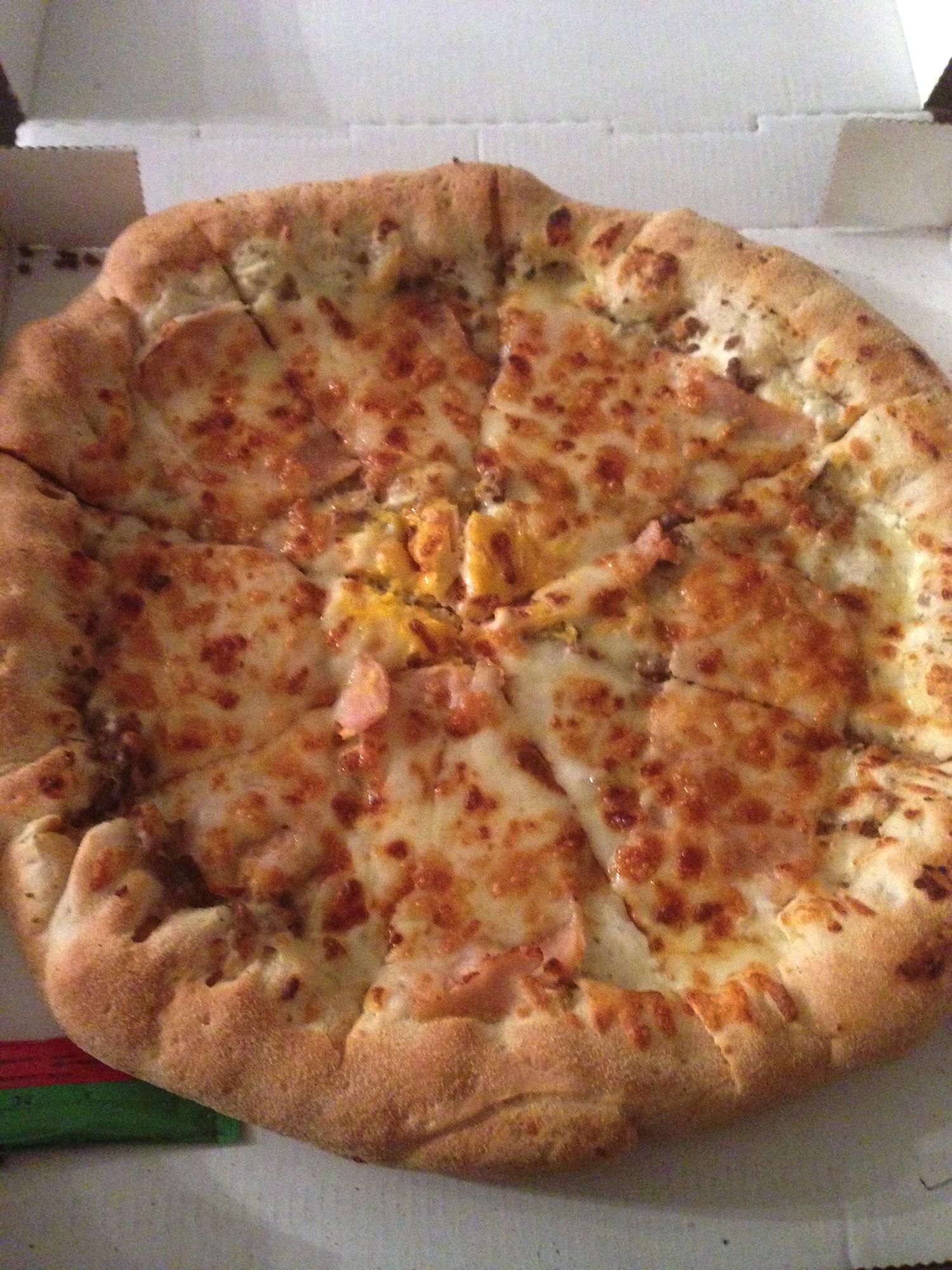 Pizza halal cheddar